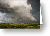 Supercell Greeting Cards - Mesocyclone Greeting Card by Patrick Ziegler