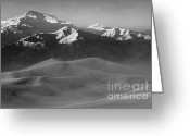Mountains Of Sand Greeting Cards - Mesquite Dunes 10 Greeting Card by Bob Christopher