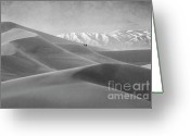 Mountains Of Sand Greeting Cards - Mesquite Dunes 12 Greeting Card by Bob Christopher