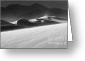 Mountains Of Sand Greeting Cards - Mesquite Dunes 2 Greeting Card by Bob Christopher