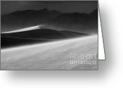 Mountains Of Sand Greeting Cards - Mesquite Dunes 3 Greeting Card by Bob Christopher