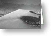 Mountains Of Sand Greeting Cards - Mesquite Dunes 6 Greeting Card by Bob Christopher
