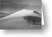 Mountains Of Sand Greeting Cards - Mesquite Dunes 8 Greeting Card by Bob Christopher