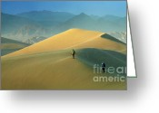 Mountains Of Sand Greeting Cards - Mesquite Dunes 9 Greeting Card by Bob Christopher