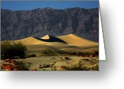 Barren Land Greeting Cards - Mesquite Flat Dunes - Death Valley California Greeting Card by Christine Till