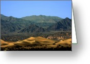 Mountain Ranges Greeting Cards - Mesquite Flat Sand Dunes - Death Valley National Park CA USA Greeting Card by Christine Till