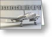 Cinema 4d Greeting Cards - Messerschmitt Bf 110 Greeting Card by Dale Jackson