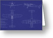 Airplane Greeting Cards - Messerschmitt ME109 Greeting Card by Michael Tompsett