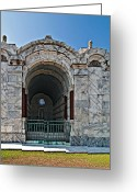 Cemetery Gate Greeting Cards - Metairie Cemetery 3 Greeting Card by Steve Harrington