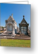 Cemetery Gate Greeting Cards - Metairie Cemetery 4 Greeting Card by Steve Harrington