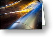 Rivet Greeting Cards - Metal Waves Greeting Card by Inge Johnsson