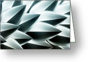 Layered Greeting Cards - Metallic Feathers, Full Frame Greeting Card by Ralf Hiemisch