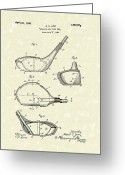 Albert Drawings Greeting Cards - Metallic Golf Club Head 1926 Patent Art Greeting Card by Prior Art Design