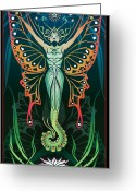 Sacred Art Digital Art Greeting Cards - Metamorphosis Greeting Card by Cristina McAllister