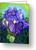 Esson Greeting Cards - Metaphysical Iris Greeting Card by Genevieve Esson