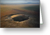 Disasters Greeting Cards - Meteor Crater Is The Best Preserved Greeting Card by Stephen Alvarez