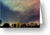 Meteor Photo Greeting Cards - Meteor Perseid Meteor Shower Greeting Card by Thomas R Fletcher