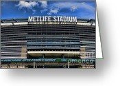 Ny Jets Greeting Cards - MetLife Stadium Greeting Card by Paul Ward