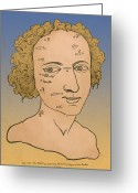 Physiognomy Greeting Cards - Metoposcopy, 17th Century Greeting Card by Science Source