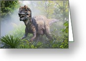 Dinosaurs Greeting Cards - Metriacanthosaurus Greeting Card by David Davis and Photo Researchers