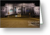 Long Street Greeting Cards - Metropolitan Greeting Card by Andrew Paranavitana