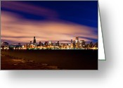 Hour Greeting Cards - Metropolitan Blues Greeting Card by Daniel Chen