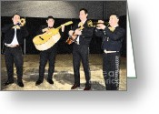 Musicians Digital Art Greeting Cards - Mex Band Greeting Card by Brent Easley