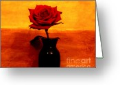 Single Rose Greeting Cards - Mexicalli Rose Greeting Card by Marsha Heiken