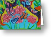 Mexican Pastels Greeting Cards - Mexican Butterfly Greeting Card by Ajchara Kaewthep