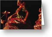 Puebla Greeting Cards - Mexican Dancers Greeting Card by Sisse Brimberg