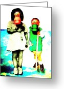 Fisher Price Little People Greeting Cards - Mexican Gothic Greeting Card by Ricky Sencion