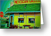Enhanced Greeting Cards - Mexican Grill Greeting Card by Chris Berry