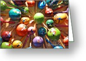 2hivelys Art Greeting Cards - Mexican Maracas Greeting Card by Methune Hively