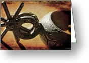 Cowboy Digital Art Greeting Cards - Mexican Silver Greeting Card by Karen Slagle