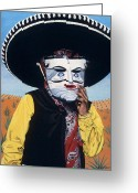 Hyper-realism Painting Greeting Cards - Mexicano Greeting Card by Michael Earney