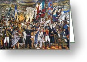 Mesoamerican Greeting Cards - Mexico: 1810 Revolution Greeting Card by Granger