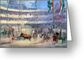 1833 Greeting Cards - Mexico: Bullfight, 1833 Greeting Card by Granger