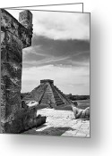 Archaeology Archeological Greeting Cards - Mexico: Chichen Itza, Greeting Card by Granger