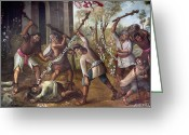 Martyr Greeting Cards - Mexico: Christian Martyrs Greeting Card by Granger