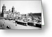 Mesoamerican Greeting Cards - MEXICO CITY: ZOCALO, c1930 Greeting Card by Granger