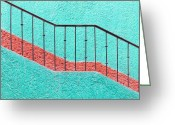 Bannister Greeting Cards - Mexico, Quintana Roo, Yucatan, Cancun, Architectural Detail Greeting Card by Bryan Mullennix
