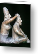 Ceramic Sculpture Greeting Cards - Mexico: Totonac Figures Greeting Card by Granger