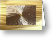 Textured Sculpture Greeting Cards - Mezmerize Greeting Card by Rick Roth