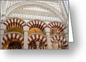 Historical Site Greeting Cards - Mezquita Cathedral Architectural Details Greeting Card by Artur Bogacki