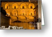 Great Mosque Greeting Cards - Mezquita Facade at Night Greeting Card by Artur Bogacki