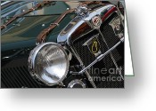 Antique Automobile Greeting Cards - Mg Greeting Card by Dennis Hedberg