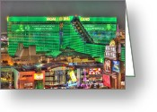 Renaissance Center Greeting Cards - MGM Grand Las Vegas Greeting Card by Nicholas  Grunas