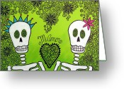 Calaveras Greeting Cards - Mi Amor Greeting Card by Robin Westenhiser