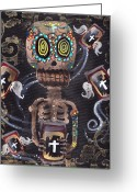 Skull Painting Greeting Cards - Mi Cerveza Greeting Card by  Abril Andrade Griffith