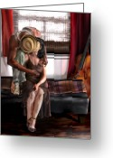 Man And Woman Greeting Cards - Mi Chica-Amo A Mi Esposita  Greeting Card by Reggie Duffie